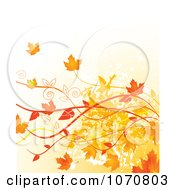 Clipart Autumn Grunge Background Royalty Free Vector Illustration