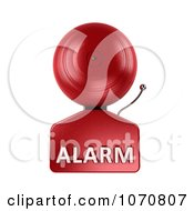 Clipart 3d Fire Alarm Bell With Alarm Text 1 Royalty Free CGI Illustration