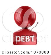 Clipart 3d Fire Alarm Bell With DEBT Text Royalty Free CGI Illustration