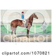 Illustration Of A Rider James Roe On The Back Of A Horse Harry Bassett Royalty Free Historical Clip Art by JVPD