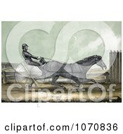 Illustration Of The Trotting Horse Named Trustee In His 20th Mile On October 20th 1848 Royalty Free Historical Clip Art by JVPD