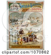 Illustration Of Circus Acts With People And Animals Under The Big Top Royalty Free Historical Clip Art by JVPD