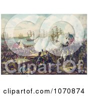 Historical Illustration The Battle Of New Orleans Royalty Free Historical Clip Art by JVPD