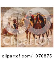 Illustration George Washington And Marquis De Lafayette At Valley Forge Royalty Free Historical Clip Art by JVPD