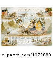 Illustration Of Horse Drawn Carriages Royalty Free Historical Clip Art