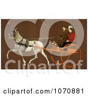 Illustration Of A Man And Woman In A Coach Royalty Free Historical Clip Art by JVPD #COLLC1070881-0002