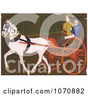 Illustration Of A Horse Pulling A Coach Royalty Free Historical Clip Art