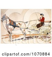 Illustration Of A Woman Riding In A Coach Royalty Free Historical Clip Art