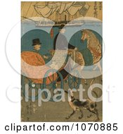 Illustration Of A Tourist In A Carriage In Japan Royalty Free Historical Clip Art