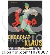 Illustration Of Chocolat Klaus Woman On A Red Horse Royalty Free Historical Clip Art
