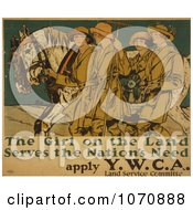 Illustration Of Women With Horses Royalty Free Historical Clip Art