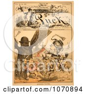 Illustration Of Quixotic Tilting Royalty Free Historical Clip Art