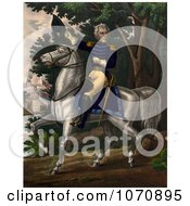 Illustration Of Andrew Jackson With The Tennessee Forces On The Hickory Grounds Royalty Free Historical Clip Art by JVPD