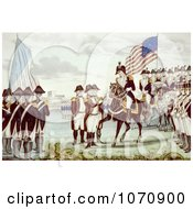 Illustration Of Surrender Of Cornwallis At Yorktown Virginia 1781 Royalty Free Historical Clip Art