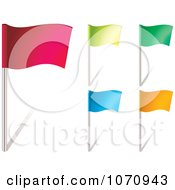 Clipart 3d Colorful Waving Flags Royalty Free Vector Illustration