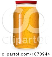 Clipart 3d Glass Jar Of Marmalade Jam Or Honey Royalty Free Vector Illustration by michaeltravers
