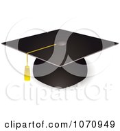 Clipart 3d Graduation Cap And Tassel Royalty Free Vector Illustration by michaeltravers #COLLC1070949-0111