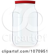 Clipart 3d Glass Jar Royalty Free Vector Illustration by michaeltravers