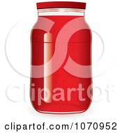 Clipart 3d Strawberry Jam Jar Royalty Free Vector Illustration