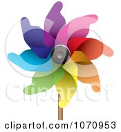 Clipart 3d Pinwheel Royalty Free Vector Illustration