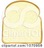 Clipart 3d White Sliced Bread Royalty Free Vector Illustration