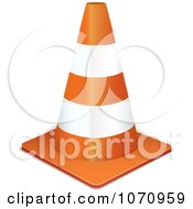 Clipart 3d Traffic Cone Royalty Free Vector Illustration