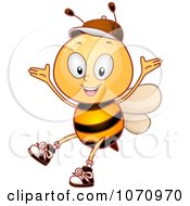 Clipart Bee Student Celebrating Royalty Free Vector Illustration