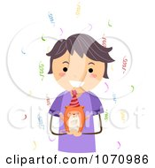 Clipart Birthday Boy Holding A Hamster Royalty Free Vector Illustration by BNP Design Studio