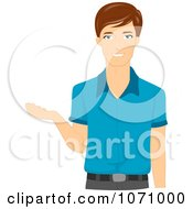 Clipart Male Teacher Gesturing With His Hand Royalty Free Vector Illustration