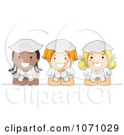 Clipart Communion Girls Royalty Free Vector Illustration