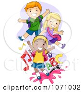 Clipart Playful School Kids Royalty Free Vector Illustration by BNP Design Studio