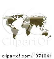 Clipart 3d World Atlas Map Of Oil Royalty Free Vector Illustration