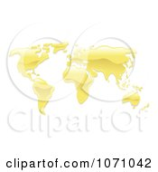 Clipart 3d Melted Gold Atlas Royalty Free Vector Illustration