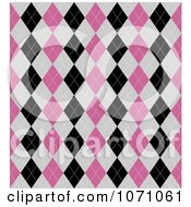 Clipart Seamless Pink Gray And Black Diamond Argyle Background Pattern Royalty Free Vector Illustration by KJ Pargeter