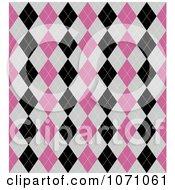 Seamless Pink Gray And Black Diamond Argyle Background Pattern