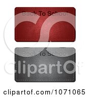 Clipart 3d Back To School Leather Banners Royalty Free Vector Illustration by vectorace