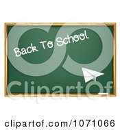 Clipart Paper Plane Flying Towards A Back To School Chalkboard Royalty Free Vector Illustration