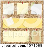 Clipart 3d Bulletin Board With Blank Posts Royalty Free Vector Illustration