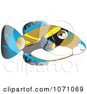 Clipart Hawaiian Trigger Fish Humuhumunukunukuapuaa Royalty Free Vector Illustration by erikalchan