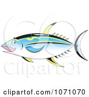 Clipart Ahi Tuna Fish Royalty Free Vector Illustration by erikalchan
