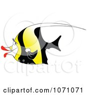 Clipart Moorish Idol Fish Royalty Free Vector Illustration by erikalchan