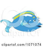 Clipart Unicorn Tang Fish Royalty Free Vector Illustration by erikalchan
