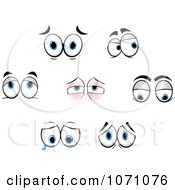 Clipart Sets Of Emotional Eyes 1 Royalty Free Vector Illustration
