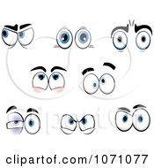 Clipart Sets Of Emotional Eyes 2 Royalty Free Vector Illustration