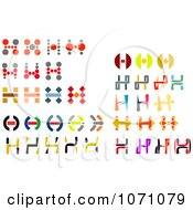 Clipart Colorful Letter H Logos Royalty Free Vector Illustration