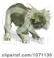 Clipart 3d Prehistoric Ceratopsian Styracosaurus Dinosaur 5 Royalty Free CGI Illustration by Ralf61