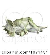 Clipart 3d Prehistoric Ceratopsian Styracosaurus Dinosaur Dying 1 Royalty Free CGI Illustration