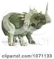 Clipart 3d Prehistoric Ceratopsian Styracosaurus Dinosaur 2 Royalty Free CGI Illustration by Ralf61