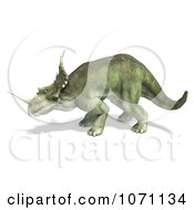 Clipart 3d Prehistoric Ceratopsian Styracosaurus Dinosaur In Profile 1 Royalty Free CGI Illustration by Ralf61