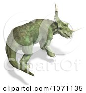 Clipart 3d Prehistoric Ceratopsian Styracosaurus Dinosaur In Profile 2 Royalty Free CGI Illustration by Ralf61
